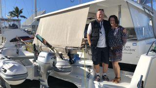 Steve and Sharan aboard Bean Cruising