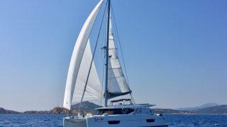 Tigger cruising along between Sardinia and the Maddalena Islands