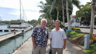 Denis with our Multihull Solutions representative David Allouch
