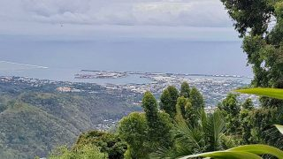 Looking down on Papeete from Belvedere Lookout