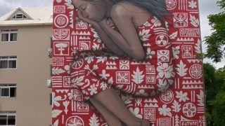 One of several stunning graffiti art walls in Papeete