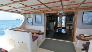 outside area catamaran